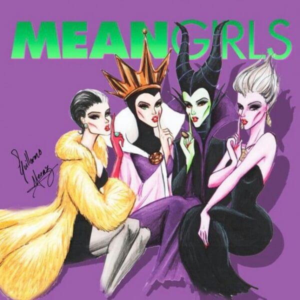 Disney villains as pin up girls 9