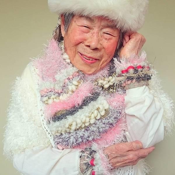 Grandma Modeling clothes 7