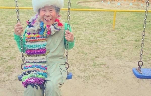 Grandma Modeling clothes 12