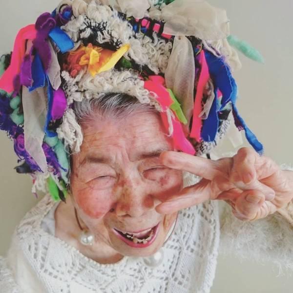 Grandma Modeling clothes 9
