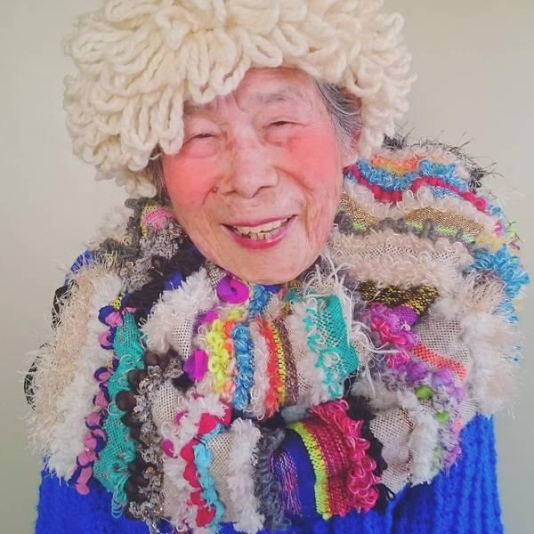 Grandma Modeling clothes 14