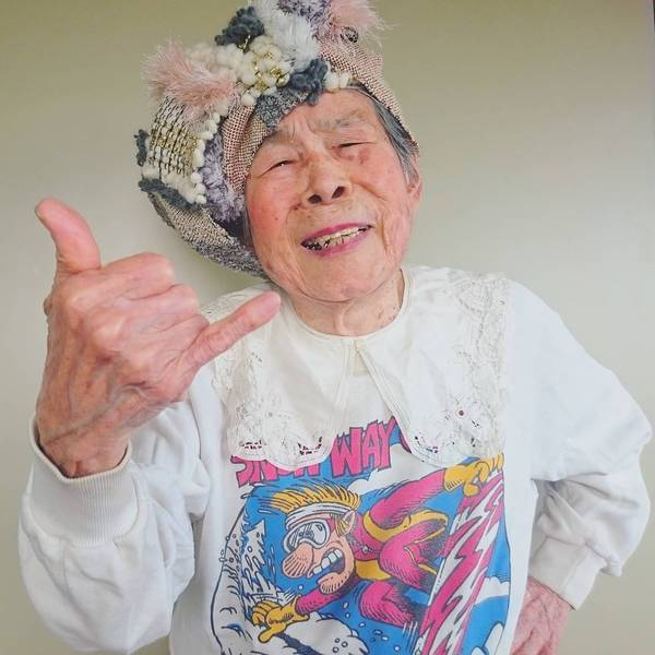 Grandma Modeling clothes 6