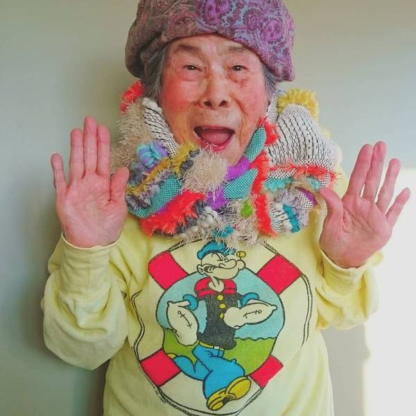 Grandma Modeling clothes 13