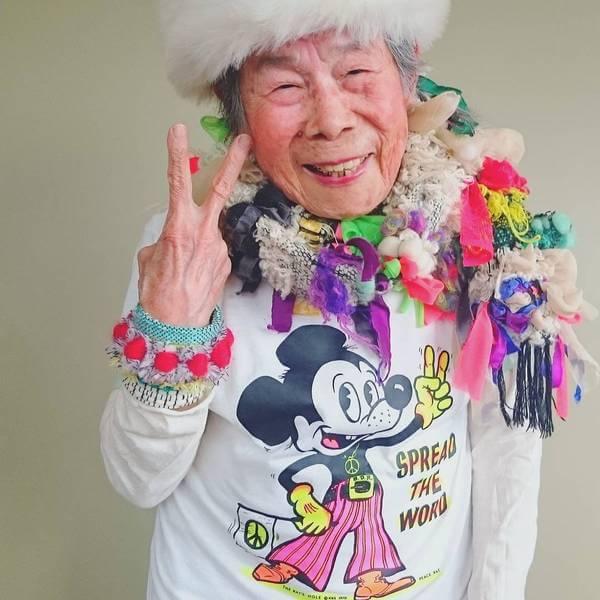 Grandma Modeling clothes 8