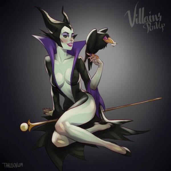 Disney villains as pin up girls 11
