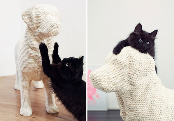 Dog-Shaped Scratching Post 1