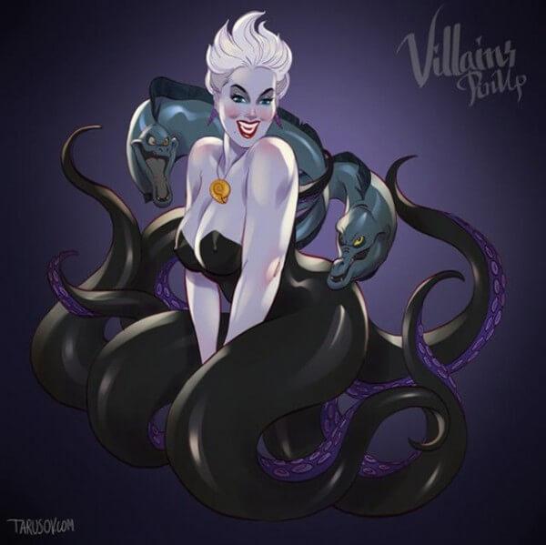 Disney villains as pin up girls 4