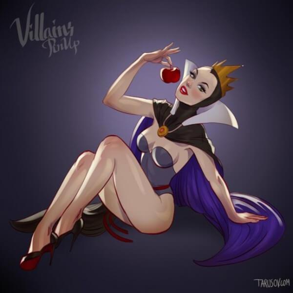 Disney villains as pin up girls 1