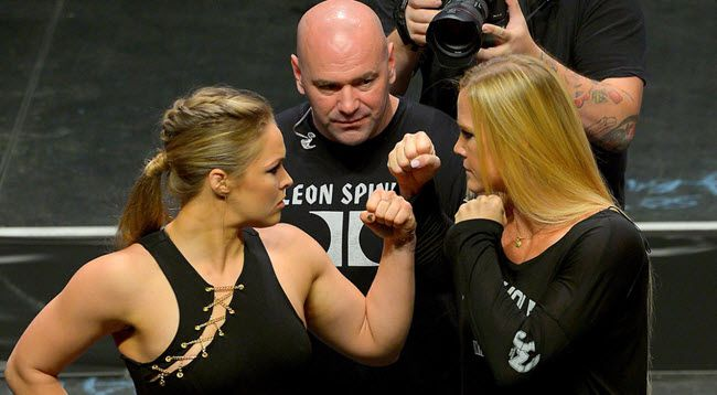ronda rousey holly holm rematch