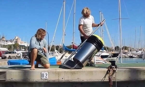 floating rubbish bin 2