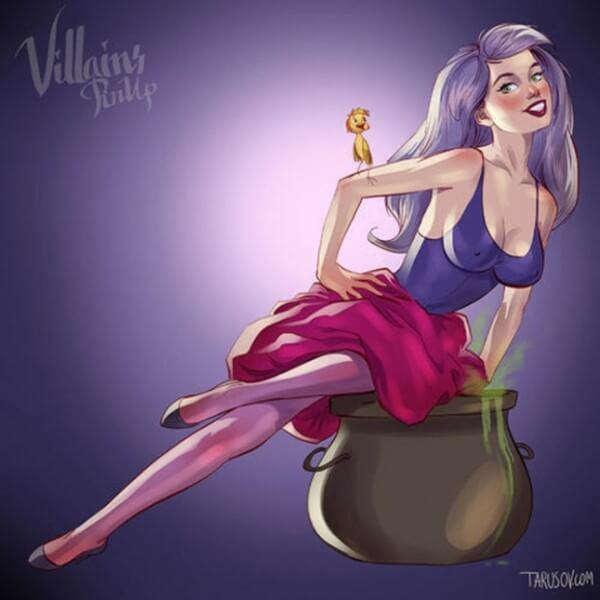 Disney villains as pin up girls 10
