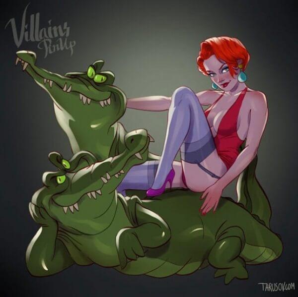 Disney villains as pin up girls 8