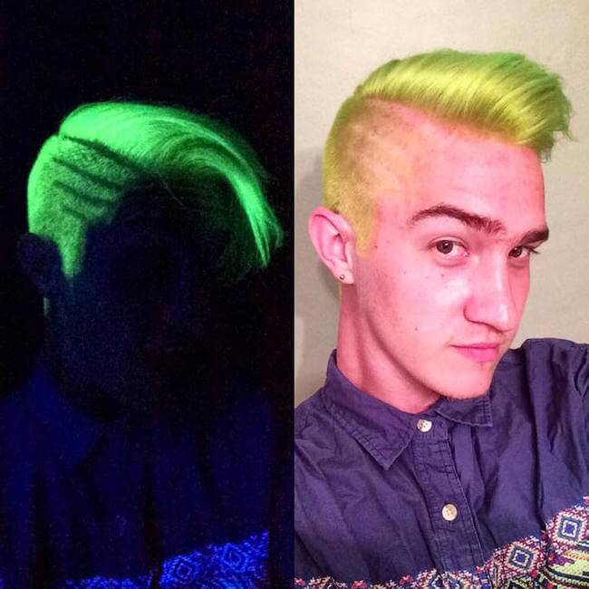 glows in the dark hair 16