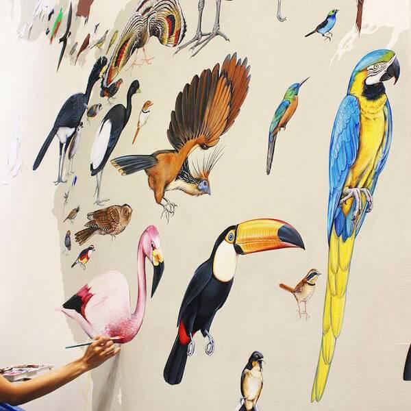 Modern Bird Families Giant Mural 22