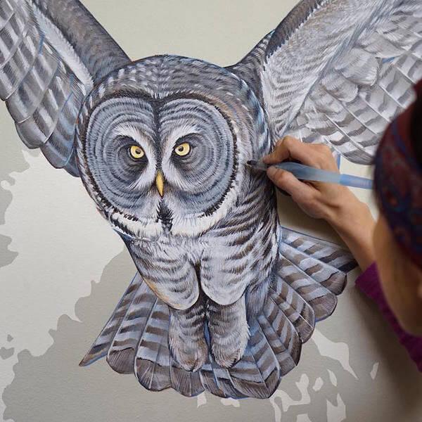Modern Bird Families Giant Mural 1
