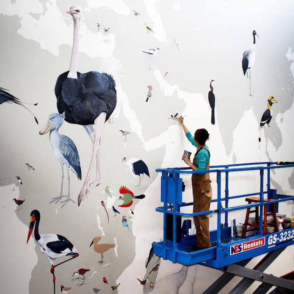 Modern Bird Families Giant Mural 2