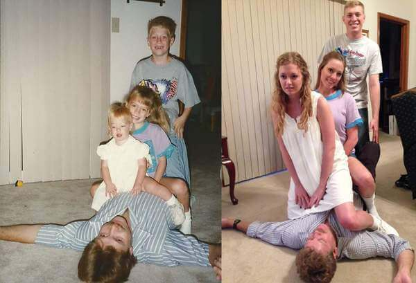 family photos recreated 7