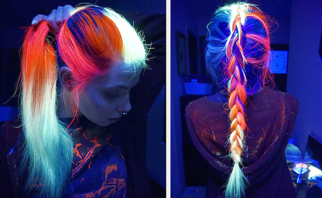 glow in the dark hair 1