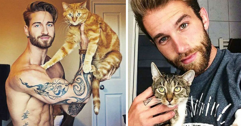 hot dudes with kittens feat