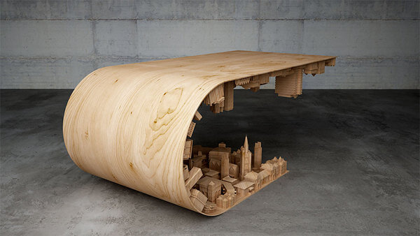 Incredible Bent City Coffee Table Will Transform Your Living Room
