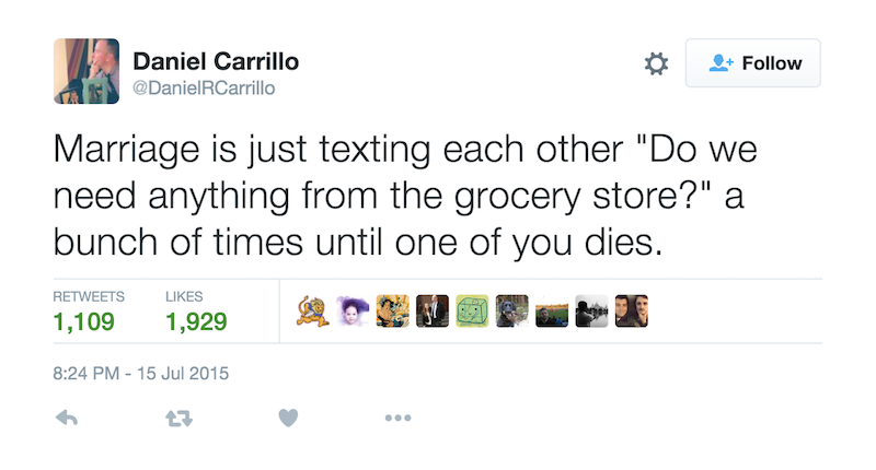 tweets for married couples
