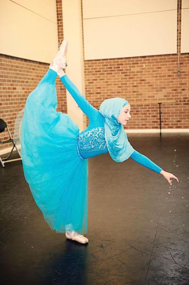 Teen Muslim Hijab-Wearing Ballerina 1