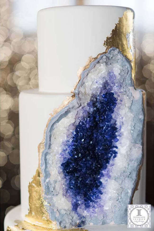 Look At This Amazing Wedding Cake Made From Edible Geode ...