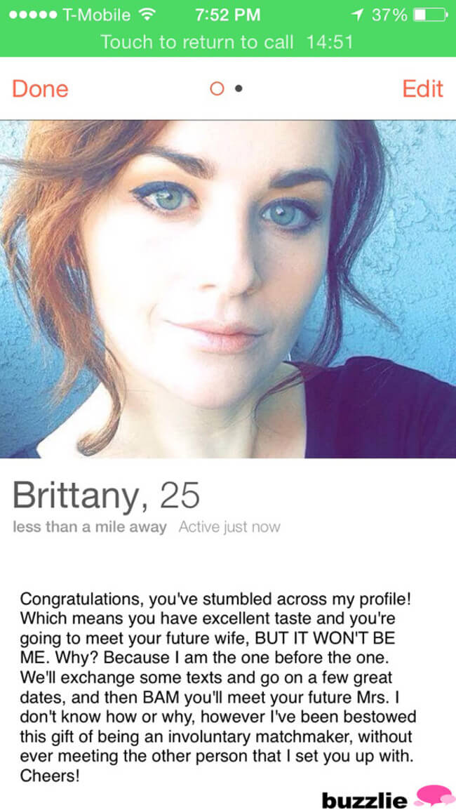 Make a funny dating profile