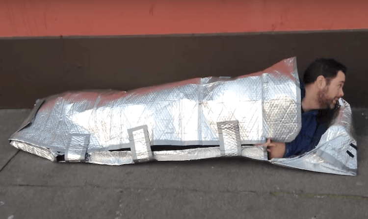 Teen Invents Fireproof And Rain Proof Sleeping Bags 2