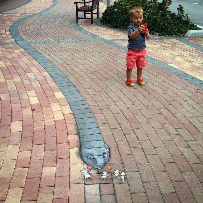 david zinn chalk art 7