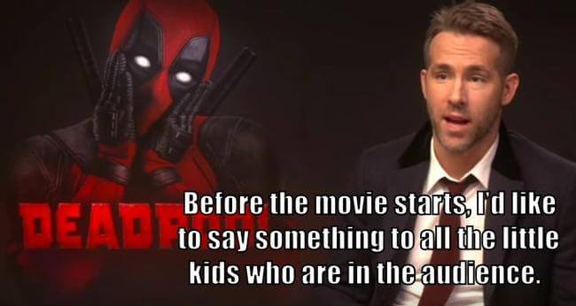 Taking Your Kids To See Deadpool 1