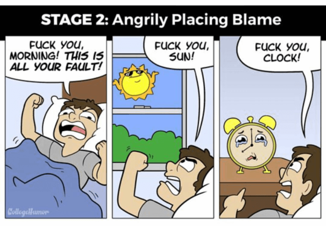 The Six Stages of Waking Up In The Morning 2