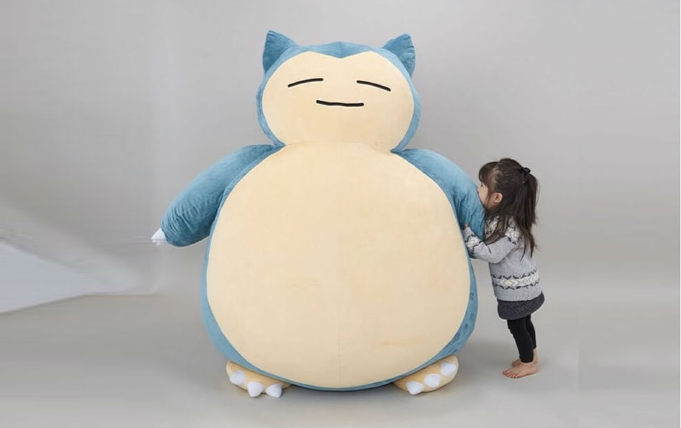 giant snorlax cushion feat