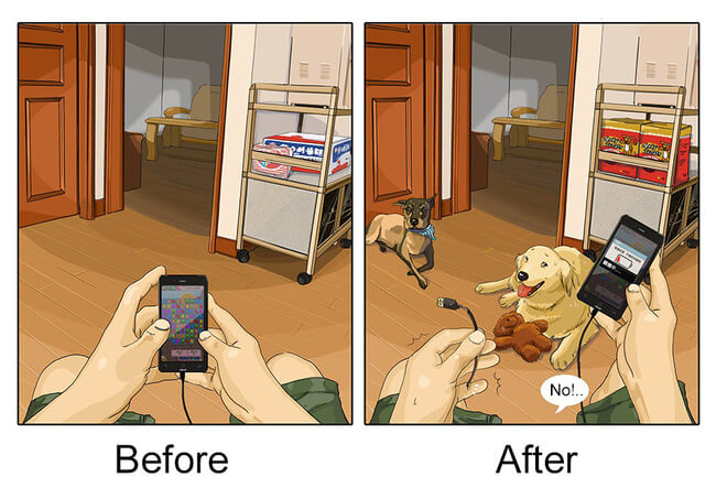 Life Before And After Getting A Dog 9