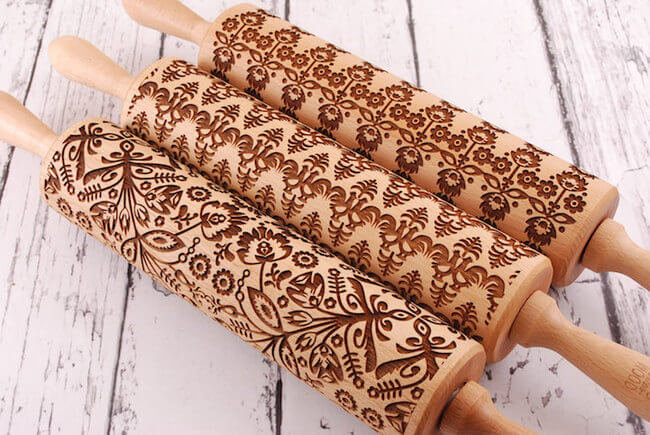 Embossed Rolling Pins 8