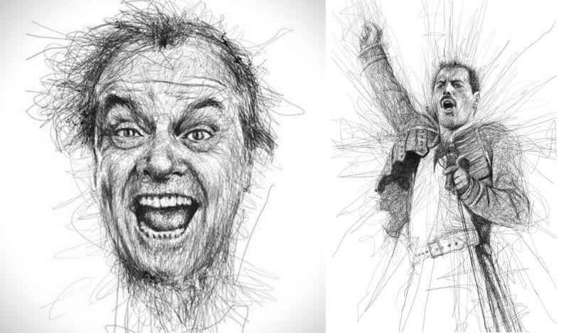 pencil scribble art feat