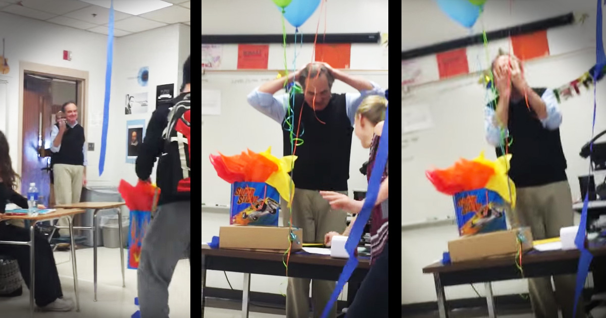 teacher moved to tears
