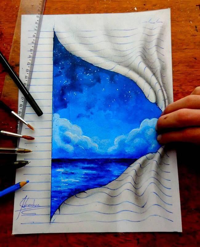 3D Notebook Drawings 2