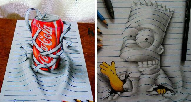 3d notebook art