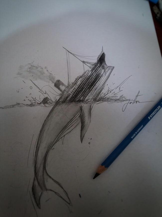 3D Notebook Drawings 7