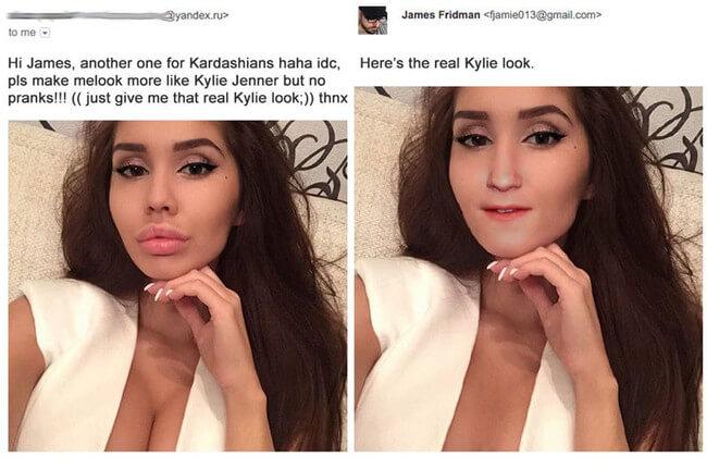hilarious photoshop requests - kyle lips