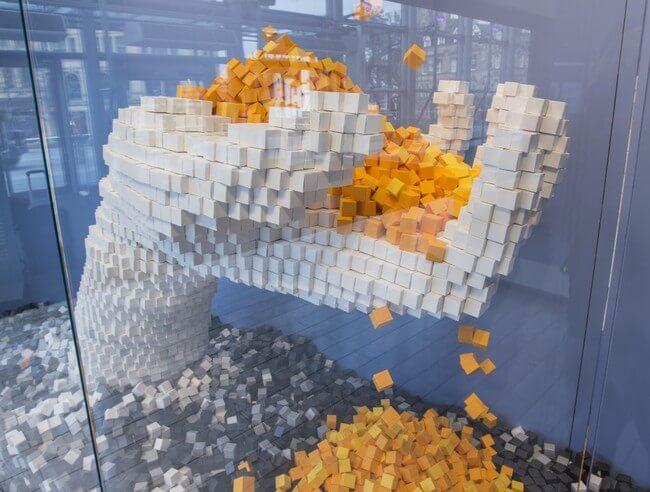 35,000 Handmade Paper Cubes 4