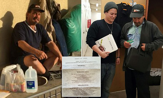 homeless handed his resume instead of asking for money
