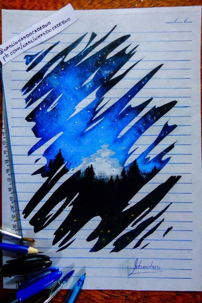 3D Notebook Drawing 8