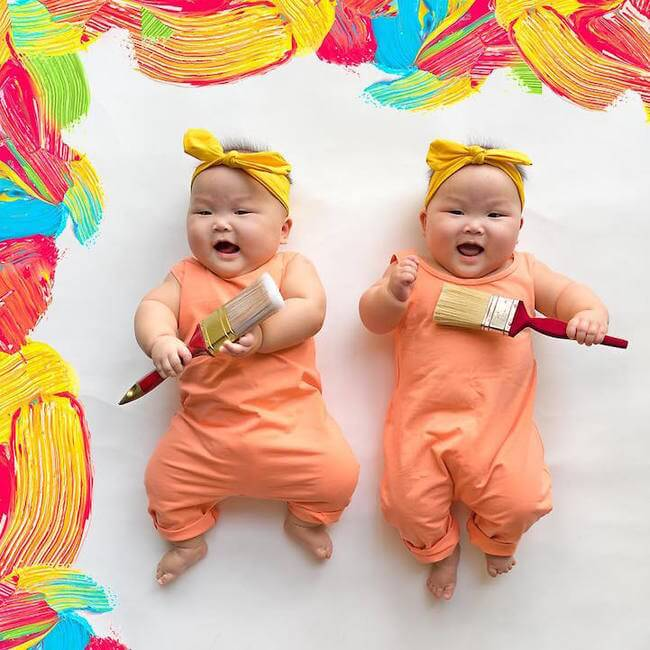 cute twins baby photos 8