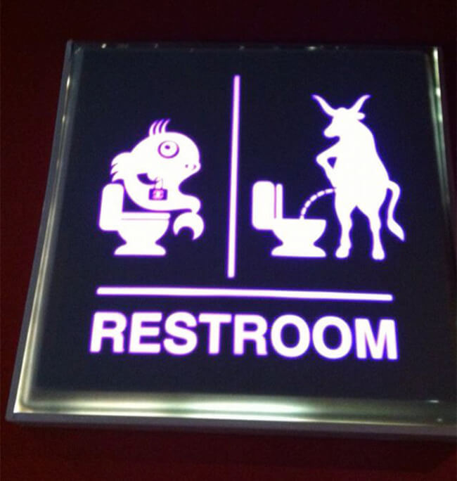 Creative toilet Signs 22