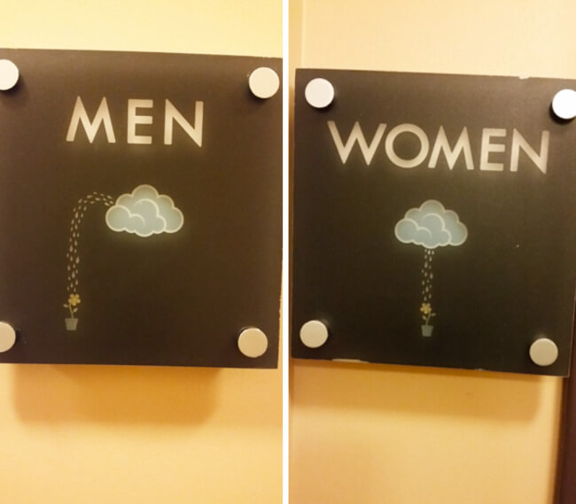 Creative Bathroom Sign 7
