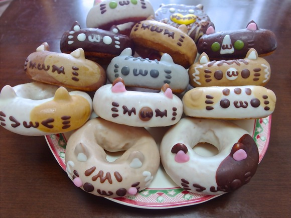 Celebrate Cat With These Delicious Cat Doughnuts