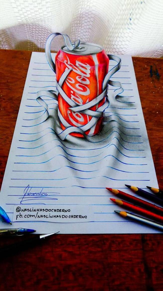 15-Year-Old Artist Creates Stuning 3D Notebook Drawings