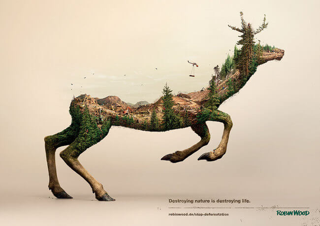 Powerful Awareness Campaign Shows That Destroying Nature